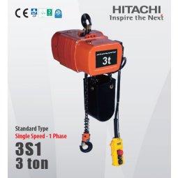 palang xích điện cố định 3 tấn hitachi